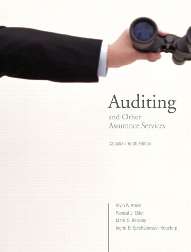 Auditing and Other Assurance Services, Canadian Tenth: Alvin A. Arens,