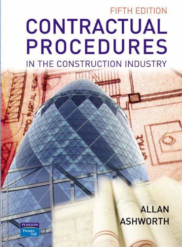 9780131298279: Contractual Procedures in the Construction Industry
