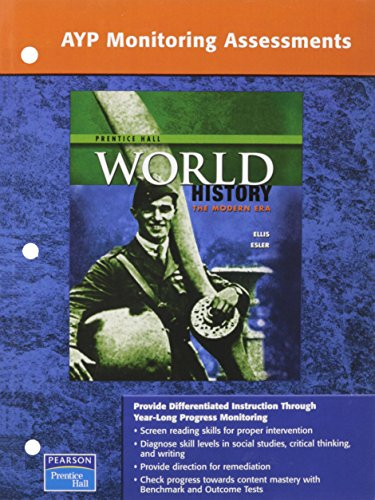 9780131299801: WORLD HISTORY PROGRESS MONITORING ASSESSMENTS NATIONAL MODERN EDITION 2007