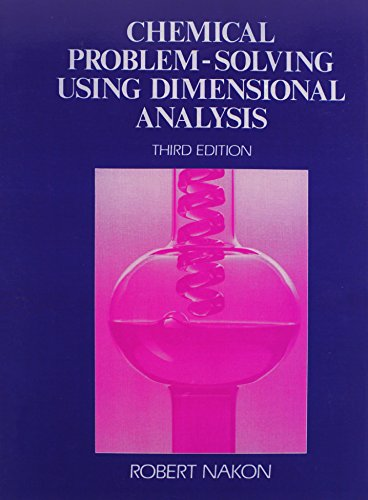 9780131313927: Chemical Problem Solving Using Dimensional Analysis (3rd Edition)