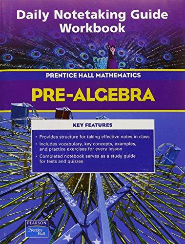 pre algebra daily notetaking guide workbook by pearson prentice rh abebooks com  McDougal Littell Geometry Notetaking Guide