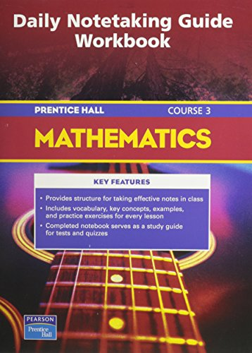 9780131315129: Mathematics: Daily Note Taking Guide workbook-course 3