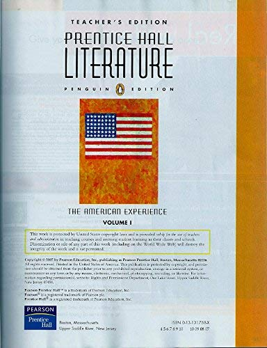 Prentice Hall Literature: Penguin Edition, The American: Kinsella, Kate; Vaughn,