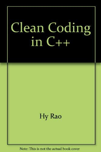 9780131326620: Clean Coding in C++