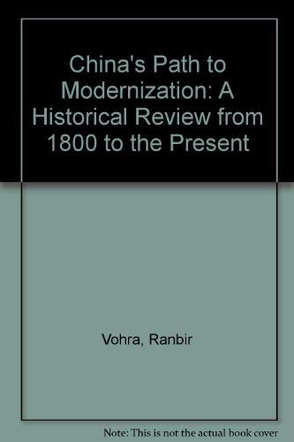 9780131327214: China's Path to Modernization: A Historical Review from 1800 to the Present