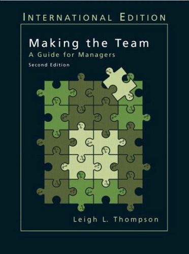 9780131327870: Making the Team: A Guide for Managers