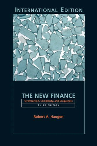 9780131327894: The New Finance: Overreaction, Complexity and Uniqueness: International Edition