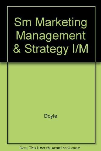 9780131331259: Sm Marketing Management & Strategy I/M