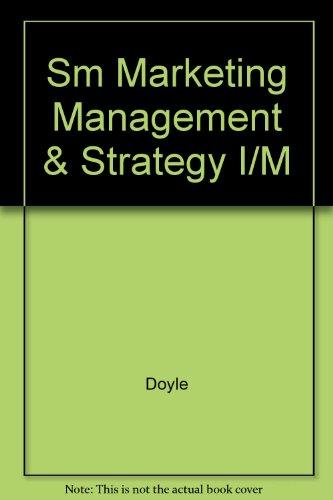 9780131331259: Sm Marketing Management & Strategy I/M