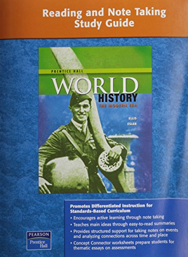 9780131333468: PRENTICE HALL WORLD HISTORY READING AND NOTE TAKING STUDY GUIDE MODERN  2007