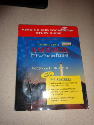 9780131335165: America Pathways to the Present Modern American History Reading and Vocabulary Study Guide