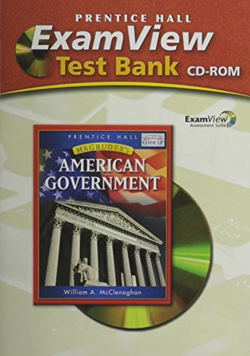 9780131335820: MAGRUDER'S AMERICAN GOVERNMENT EXAMVIEW TEST BANK 2006C