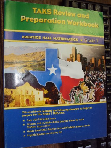 9780131340268: Taks Review and Preparation Workbook Mathematics Grade 7
