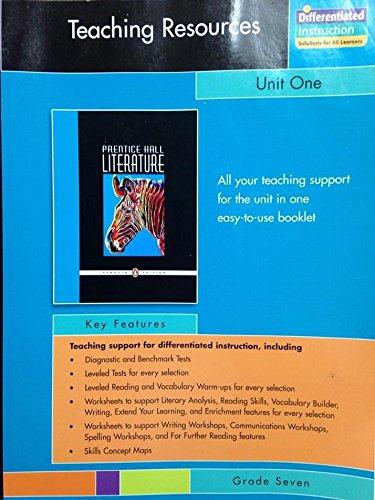 9780131341944: Prentice Hall Literature, Grade 7: Unit 1 Resource Book