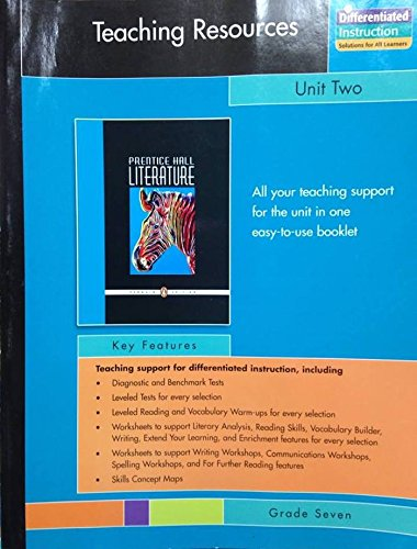 9780131341951: PRENTICE HALL LITERATURE PENGUIN EDITION TEACHING RESOURCES UNIT 2: SHORT STORIES GRADE 7 2007C