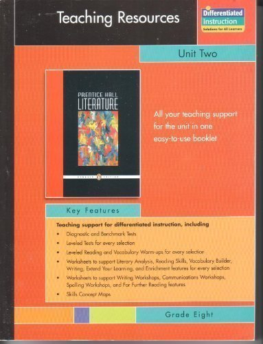 9780131341999: PRENTICE HALL LITERATURE PENGUIN EDITION TEACHING RESOURCES UNIT 2:     SHORT STORIES GRADE 8 2007C