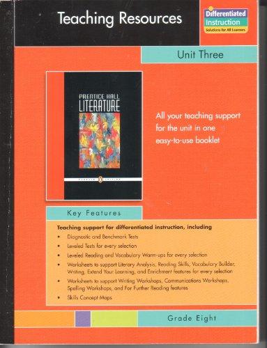 9780131342002: PRENTICE HALL LITERATURE PENGUIN EDITION TEACHING RESOURCES UNIT 3:     NONFICTION GRADE 8 2007C
