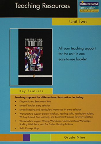 9780131342026: PRENTICE HALL LITERATURE PENGUIN EDITION TEACHING RESOURCES UNIT 2:     SHORT STORIES GRADE 9 2007C