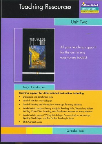 Teaching Resources, Unit Two Short Stories, Grade: Prentice Hall