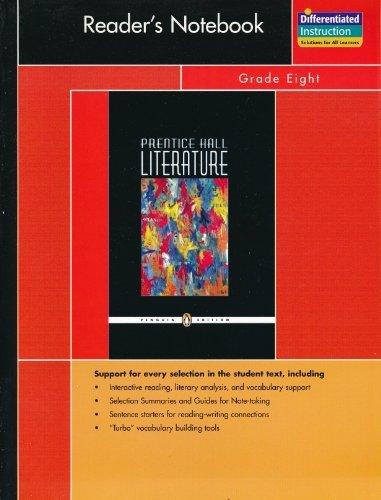 Reader's Notebook-Grade 8 (2007 Copyright): Staff