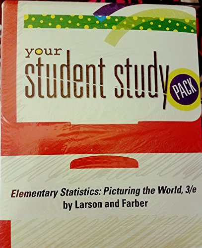 9780131343665: Elementary Statistics: Picturing the World-Student Study Pack