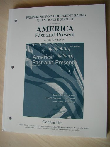 9780131347168: Preparing For Document-Based Questions Booklet to accompany (America Past and Present AP edition)
