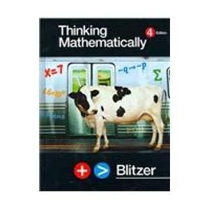 9780131347403: Thinking Mathematically