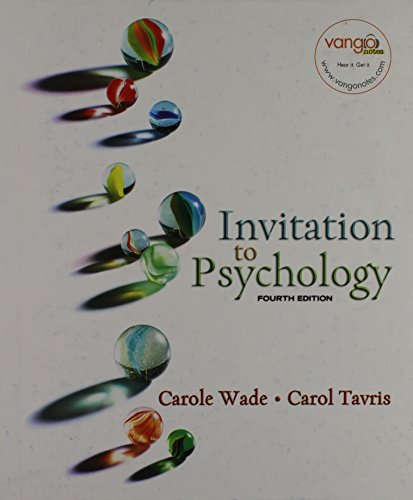 9780131347441: Invitation to Psychology