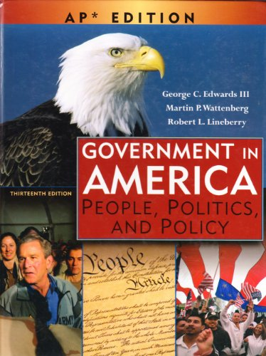 9780131347601: Government in America: People, Politics, and Policy: Advanced Placement Edition