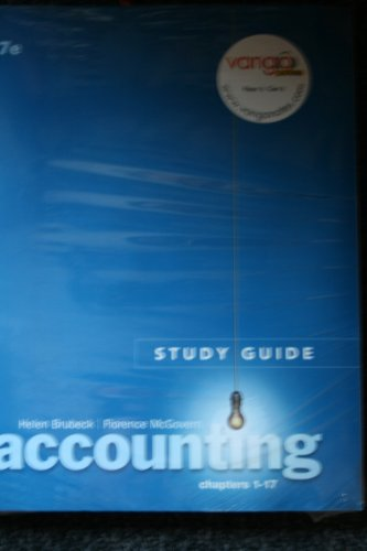 9780131351714: Study Guide Chapters 1-17&cd Accounting Pkg (Ch. 1-17)