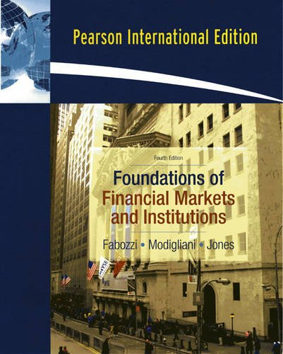 9780131354234: Foundations of Financial Markets and Institutions: International Edition