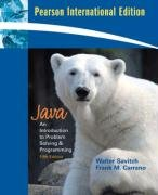 9780131354517: Java: International Version: Introduction to Problem Solving and Programming