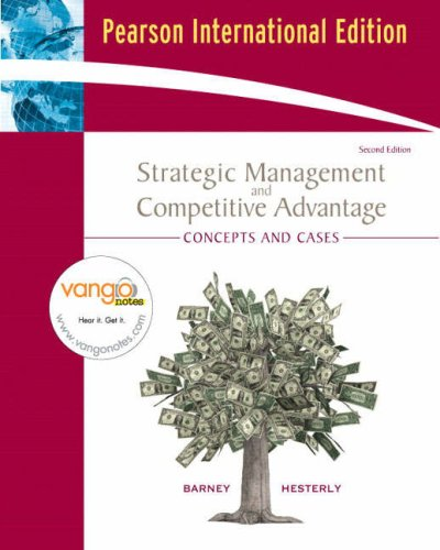 9780131355026: Strategies Management and Competitive Advantage: Concepts and Cases (2nd Interna