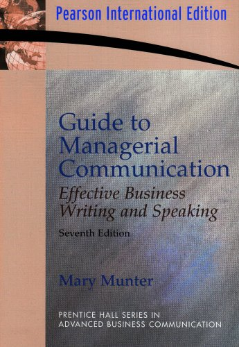 9780131355354: Guide to Managerial Communication (Guide to Business Communication Series)