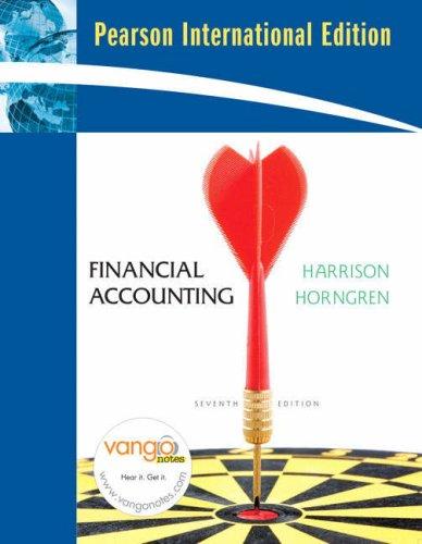 Financial Accounting: International Edition: Harrison Jr., Walter