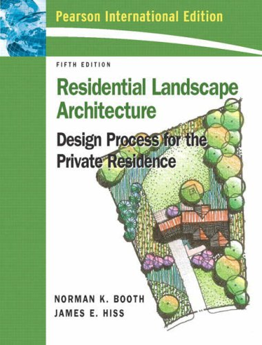 9780131356009: Residential Landscape Architecture: International Edition: Design Process for Private Residence