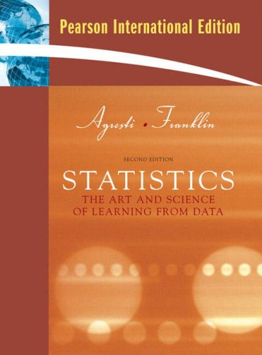 9780131357464: Statistics: The Art and Science of Learning from Data. Alan Agresti, Christine Franklin