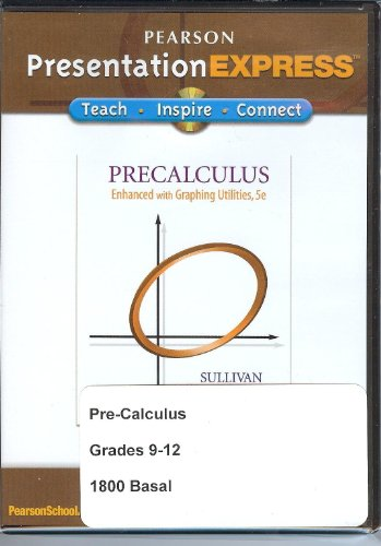 9780131358928: Precalculus: Enhanced with Graphing Utilities, 5e, Presentation Express (Pearson, Grades 9-12, Win & Mac)