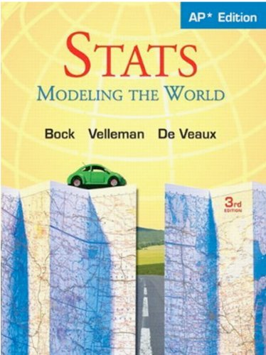 Stats: Modeling the World Nasta Edition Grades: BOCK