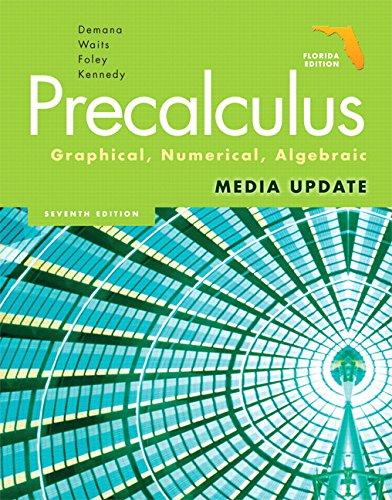 Precalculus: Graphical, Numerical, Algebraic: U