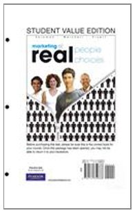 Marketing: Real People, Real Choices, Student Value: Michael Solomon; Greg