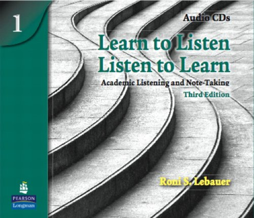 9780131361911: Learn to Listen, Listen to Learn 1: Academic Listening and Note-Taking, Classroom Audio CD