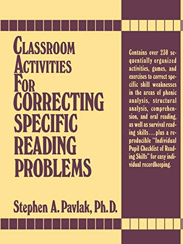 9780131362192: Classroom Activities For Correcting Specific Reading Problems
