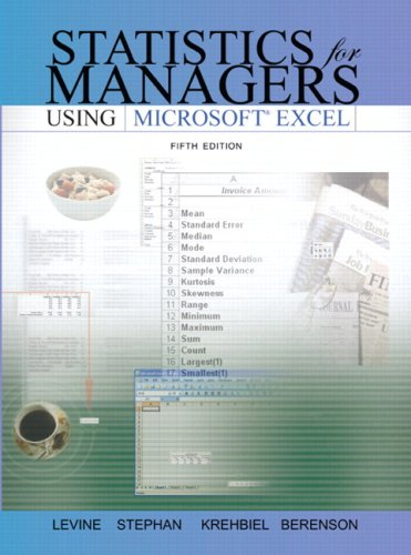 9780131362277: Statistics for Managers Using Excel and Student CD Package Value Pack (includes Transition Guide to Microsoft Office 2007 & PHIT TIPS: Microsoft Excel 2007)