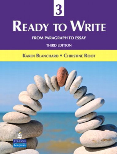 9780131363342: Ready to Write 3: From Paragraph to Essay (3rd Edition)