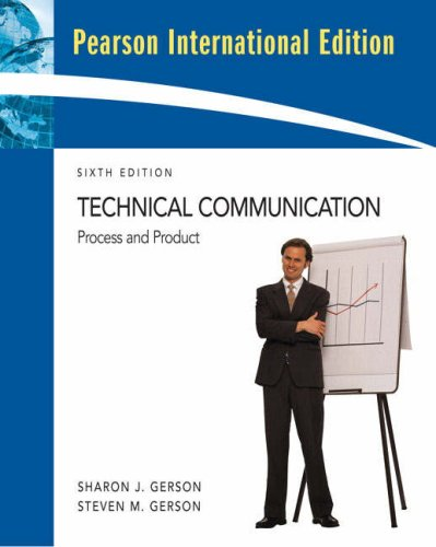 9780131363625: Technical Communication : Process and Product 6TH EDITION