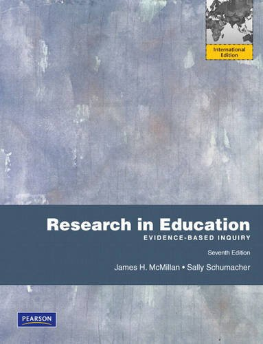 9780131364158: Research in Education: Evidence-Based Inquiry