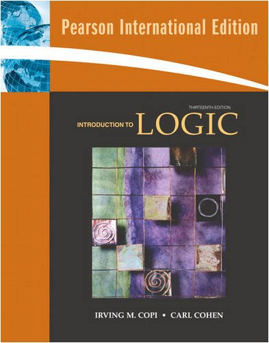 9780131364196: Introduction to Logic