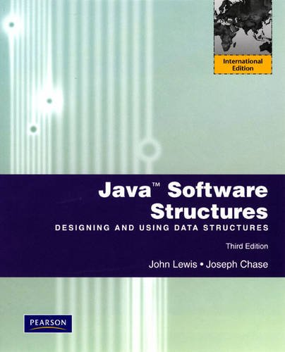 9780131364271: Java Software Structures: International Version: Designing and Using Data Structures