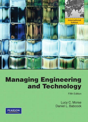 9780131364523: Managing Engineering and Technology: International Version